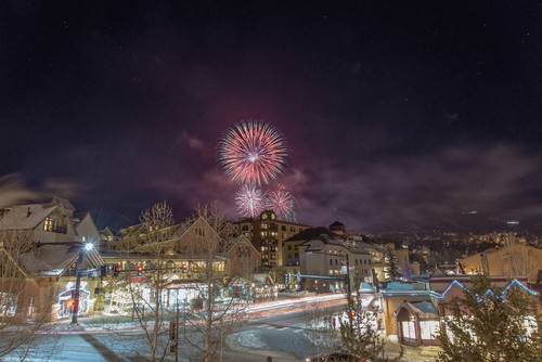 Fireworks on New Year's Eve in Breckenridge!