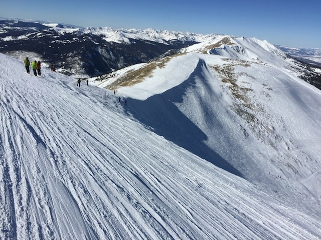 My Friends Jim Chris And Curtis Upper Left Looking To Drop Down Into The Double Black Diamond Runs Of Whales Tale Slab White Above Them In